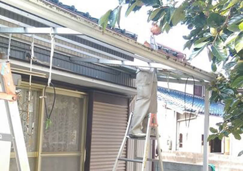 テラス屋根交換1